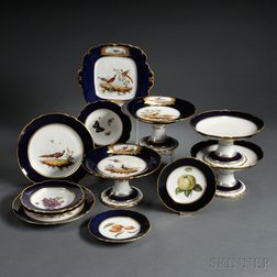Assembled Paris Porcelain Hand-painted Dessert Service
