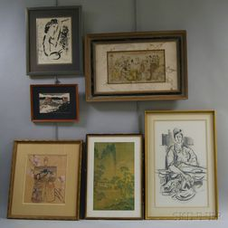 Six Works:      Marc Chagall (French/Russian, 1887-1985), In Front of the Picture