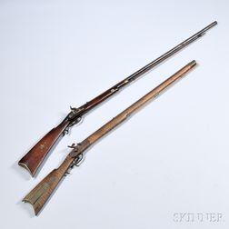 Two Kentucky-style Percussion Guns