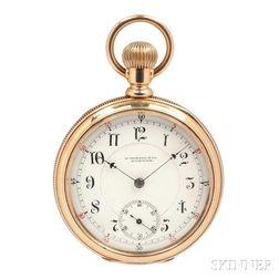 E. Howard 14kt Gold Open-face Watch