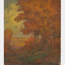 Albert Prentice Button (American, 1868-1931)      Autumn Landscape
