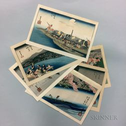 Utagawa Hiroshige (1797-1858), Complete Set of Ten Famous Views of Kyoto