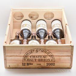 Chateau Haut Brion 2002, 6 bottles
