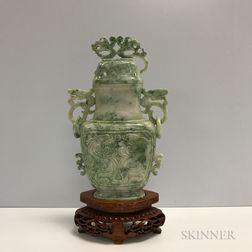 Hardstone Covered Vase