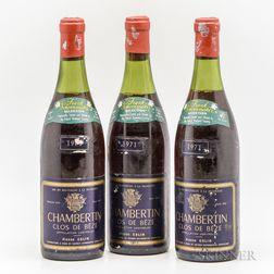 Pierre Gelin Chambertin Clos de Beze 1971, 3 bottles