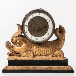 Dolphin-form Shelf/Mantel Clock
