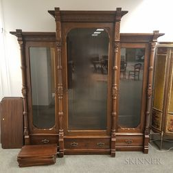 Renaissance Revival-style Carved Mahogany Bookcase.     Estimate $700-900