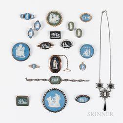 Twenty Wedgwood Jewelry Items