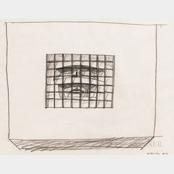 Two Framed Charcoal Drawings:      Harold Tovish (American, 1921-2008), Untitled