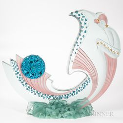 Giz Studio Art Deco Glass Sculpture