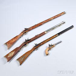 Four Reproduction Muzzle-loading Guns