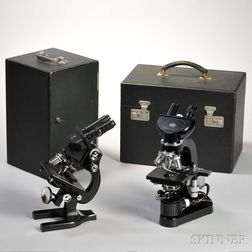 Two Binocular Laboratory Microscopes