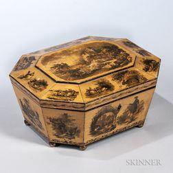 English Regency Satinwood Game Box