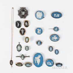 Twenty-two Wedgwood Jewelry Items