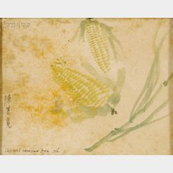 Chen Chi-Kwan (Chinese, 1921-2007)      Grasshopper with Corn