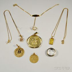 Group of 18kt Gold Jewelry