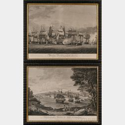 B. Tanner, engraver and publisher (Philadelphia, 19th Century) Lot of Two Engravings: After H. Reinagle, Macdonoughs Victory on Lak...