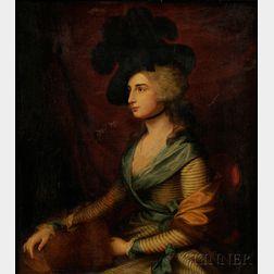 Geneviève Dupont (French, 19th Century) After Thomas Gainsborough      (British, 1727-1788)   Portrait of Mrs. Sarah Siddons