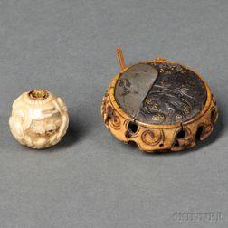 Kagamibuta   Netsuke and Ivory Ojime