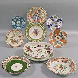 Ten English Porcelain Dishes