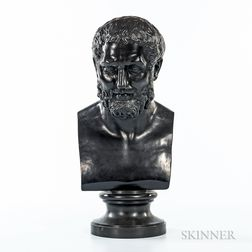 Wedgwood & Bentley Black Basalt Bust of Zeno