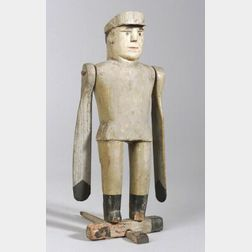 Carved and Painted Pine Whirligig Policeman