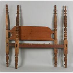 Classical Red Stained Birch Tall Post Bed