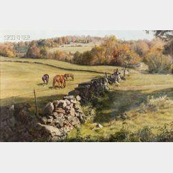 John Walter Scott (American, 1907-1987)      North Salem Horse Pasture