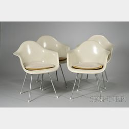 Four Charles and Ray Eames Armchairs