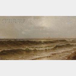 Alfred Thompson Bricher  (American, 1837-1908)      Sailing off the Maine Coast