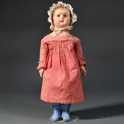 Alabama Molded and Painted Cloth Doll