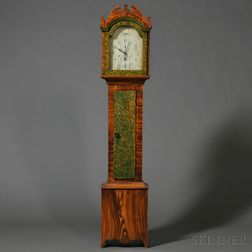 Federal Grain-painted Tall Case Clock