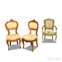 Three Louis XV-style Chairs