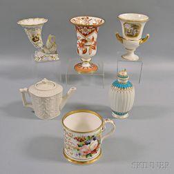 Six English Porcelain and Ceramic Items