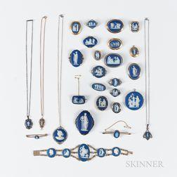 Twenty-seven Wedgwood Jewelry Items