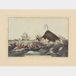 "Nathaniel Currier, publisher (American, 1813-1888)    The Sperm Whale ""In a Flurry.,"""