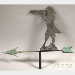 Cast Metal Pirate Figure Weather Vane