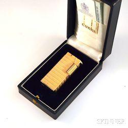18kt Gold-cased Dunhill Silver Aldunil/Sylphide Lighter