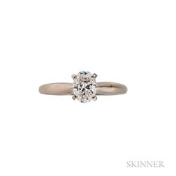 14kt White Gold and Diamond Solitaire