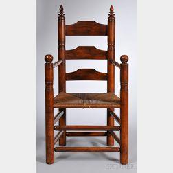 Wallace Nutting Maple Slat-back Pilgrim Armchair