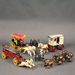 Collection of Cast Iron Painted Toys