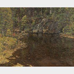 John Joseph Enneking (American, 1841-1916)      Trout Brook / A North Newry, Maine Landscape