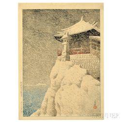Kawase Hasui (1883-1957), Kannon Shrine at Abuto