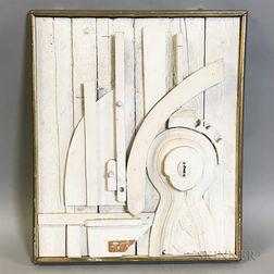 Denis G. Barrington (British, 1930-1999)    Sculptural Assemblage in White