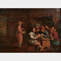 School of David Teniers the Elder (Flemish, 1582-1649)      Interior-Boors Playing Cards