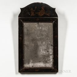 Queen Anne Chinoiserie-decorated Pine Mirror