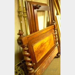 Victorian Mahogany and Mahogany Veneer Bed with Short Canopy.      Estimate $150-200