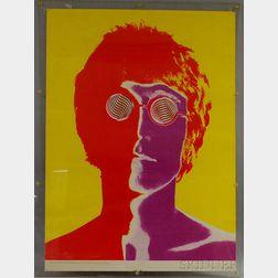 Framed Poster of John Lennon Photographed by Richard Avedon for Look   Magazine