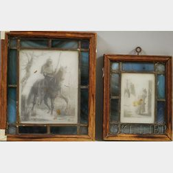 John La Farge (American, 1835-1910)      Lot of Two Cliché-verre Glass Drawings for Robert Browning's Men and Women