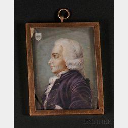 Portrait Miniature of a Man in Profile